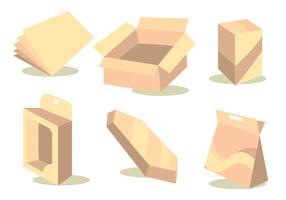 Die Cut Vector Set