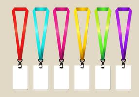 Rainbow Lanyard Vector Set