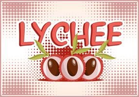 Free Vector Lychee Fruits