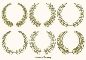 Vector Olive Wreaths Set
