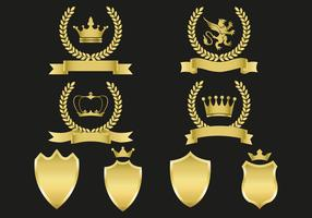 Free Gold Emblems Vector