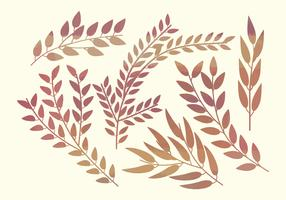 Watercolor Vector Branches