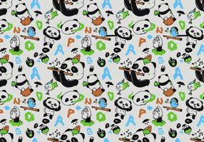 Vector Seamless Panda Pattern