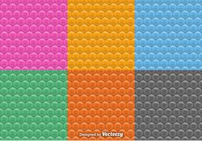 Vector Seamless Patterns Of Bubble Wrap Set