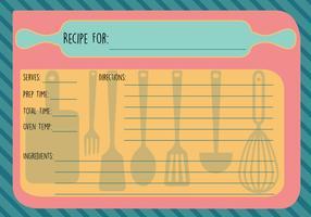 Free Recipe Card Vector