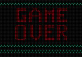 Game Over Free Vector  Background