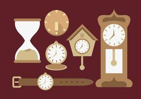 Sun Dial Watches Diferent Illustration Vector
