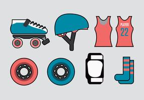 Roller Derby Vector Elements
