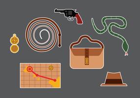 Indiana Jones Vector Elements