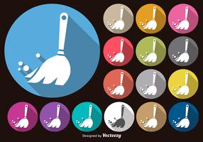 Vector White Feather Duster Icons Set