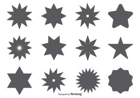 Vector Star Shape Set
