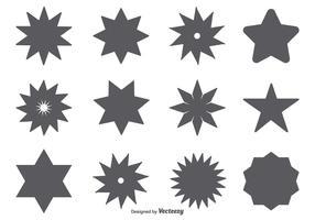 Vector Star Shape Set