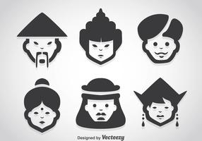 Asian People Character Vector Sets