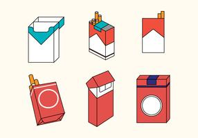 Cigarette Pack Vector Set