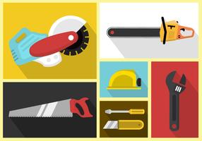 Set Of Vector Icons Of Working Tools