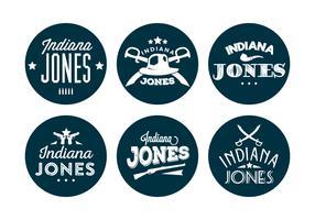 Typographic Indiana Jones Vector Backround