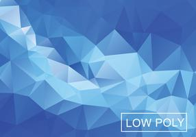 Blue Light Polygonal Mosaic Background