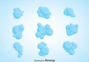 Soap Suds Vector Set