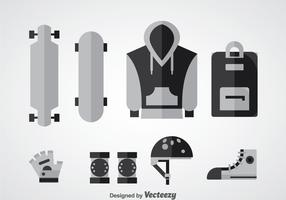 Longboard Equipment Vector