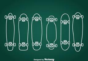 Longboard Hand Drawn Icons