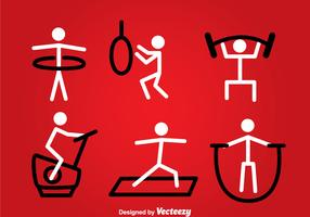 Exercise Stickman Vector