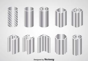 Steel Beam Construction Icons
