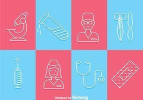 Medical Tin Outline Icons