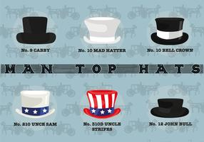 Free Man Top Hats Vector