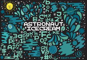 Astronaut Ice Cream Vector Font