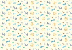 Summer Beach Icons Pattern