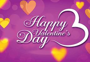 Purple Valentines Day Vector
