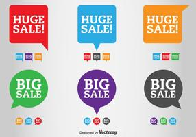 Sale and Discount Vector Labels
