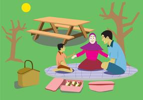Fun Family Picnic Vector