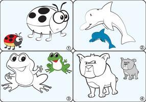 Coloring Page Animal Vectors