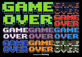 8 bit Game Over Stylized Message