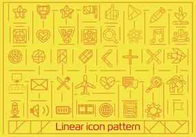 Free Flat Linear Icons Background