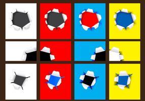 Bullet holes paper vector
