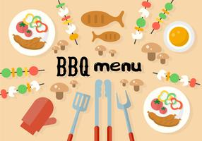 Free Barbecue Menu Vector