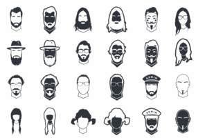 Faces Avatar Vector Icon Pack 1