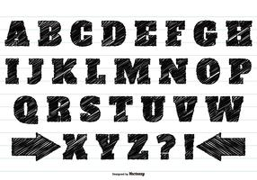 Black Scribble Alphabet Set
