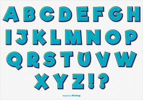 Conjunto de alfabeto cómico retro de la diversión