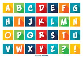 Colorful Comic Style Alphabet Set