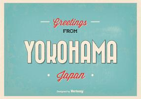 Yokohama Japan Greeting Illustration