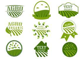Simple Agro Symbol Logo Design Vectors
