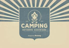 Retro Camping Background Illustration