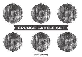Messy Grunge Label Set