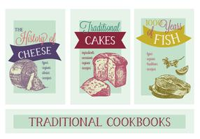 Free Various Thematic Cookbooks Vector Background
