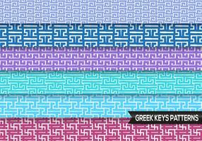Greek Keys Patterns Vector