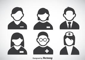 Hospital People Icons Vector