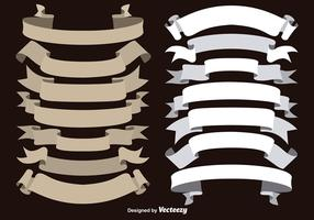 Vector Brown and White Ribbons Collection